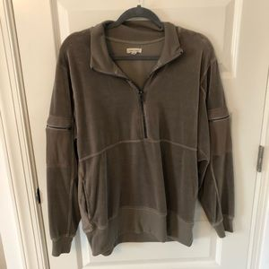 Urban Outfitters Velour Half Zip